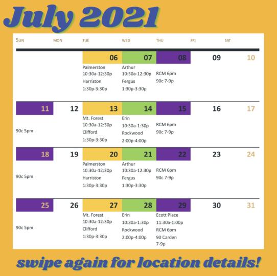 guelph-van-schedule